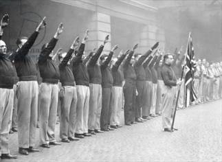 The British Union of Fascists (b/w photo)