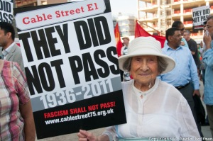 75th anniversary of the Battle Of Cable Street march and rally, Tower Hamlets October 2011