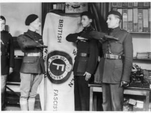 three-members-salute-the-british-union-of-fascists-flag